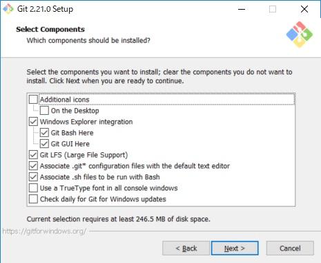 Git for Windows インストール