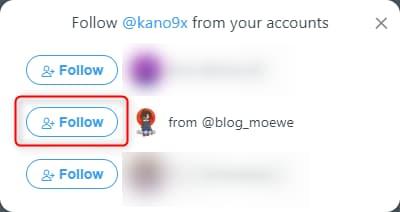 TweetDeck追加アカウントでフォロー