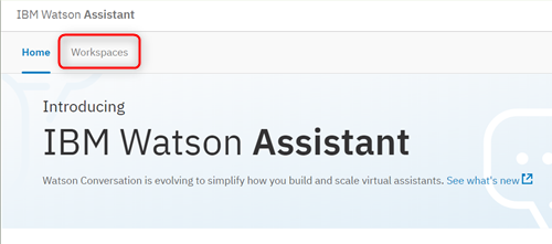 Watson Assistant continue4