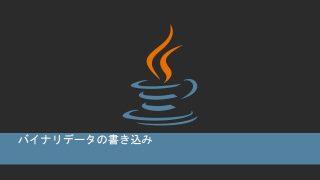 Javaでバイナリデータの書き込み