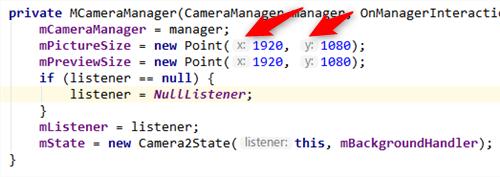 parameter name hints