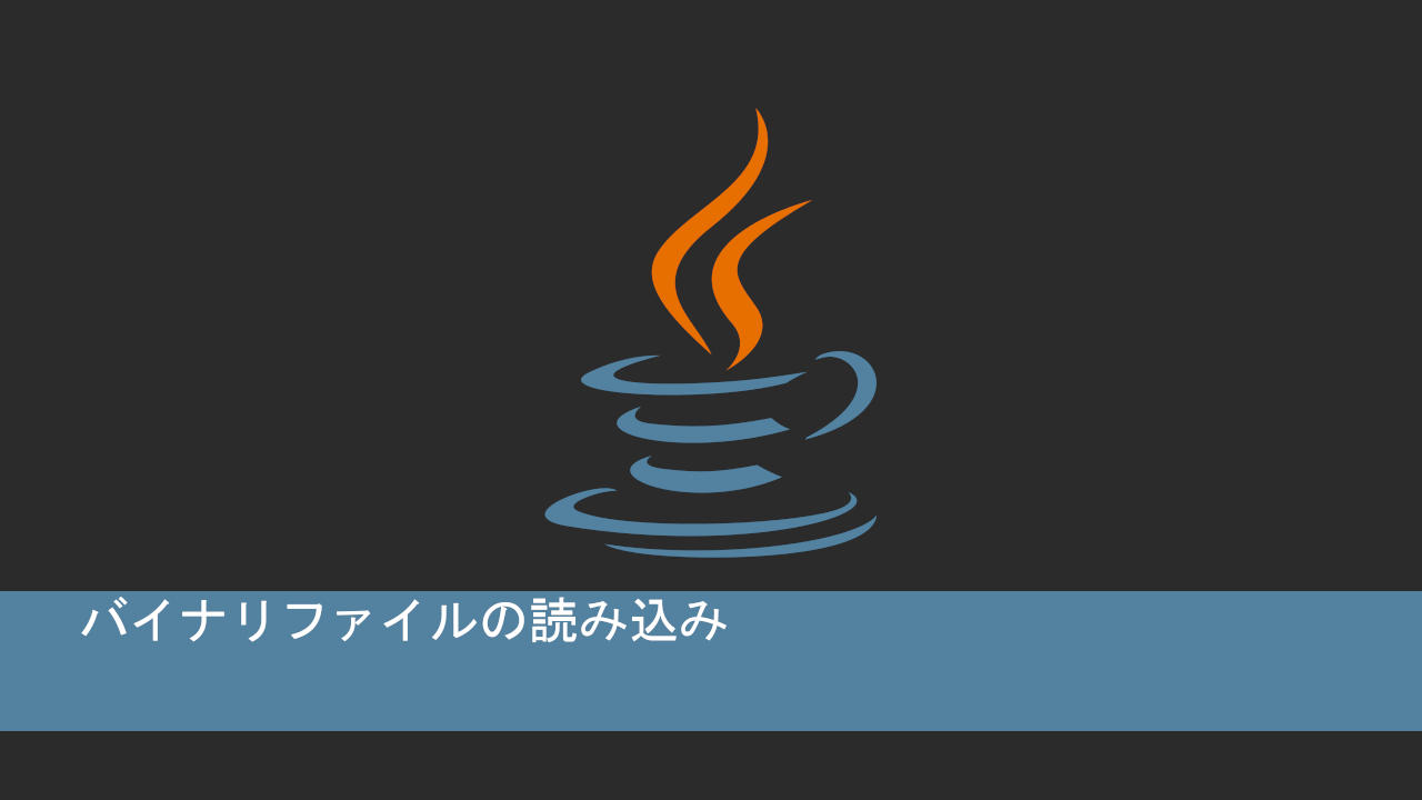 Javaでバイナリファイルの読み込み