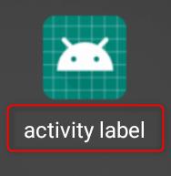 androidアイコンのタイトル