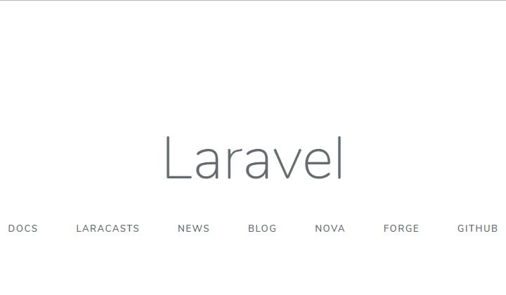 Laravelトップ画面