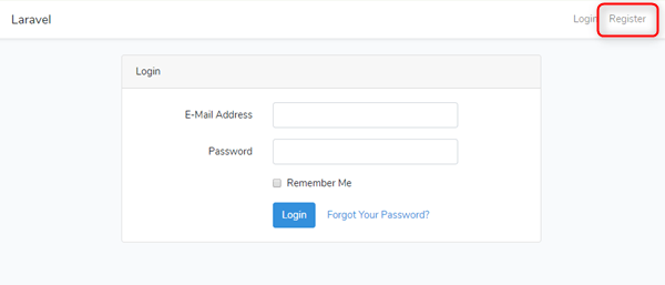 Laravelユーザー登録